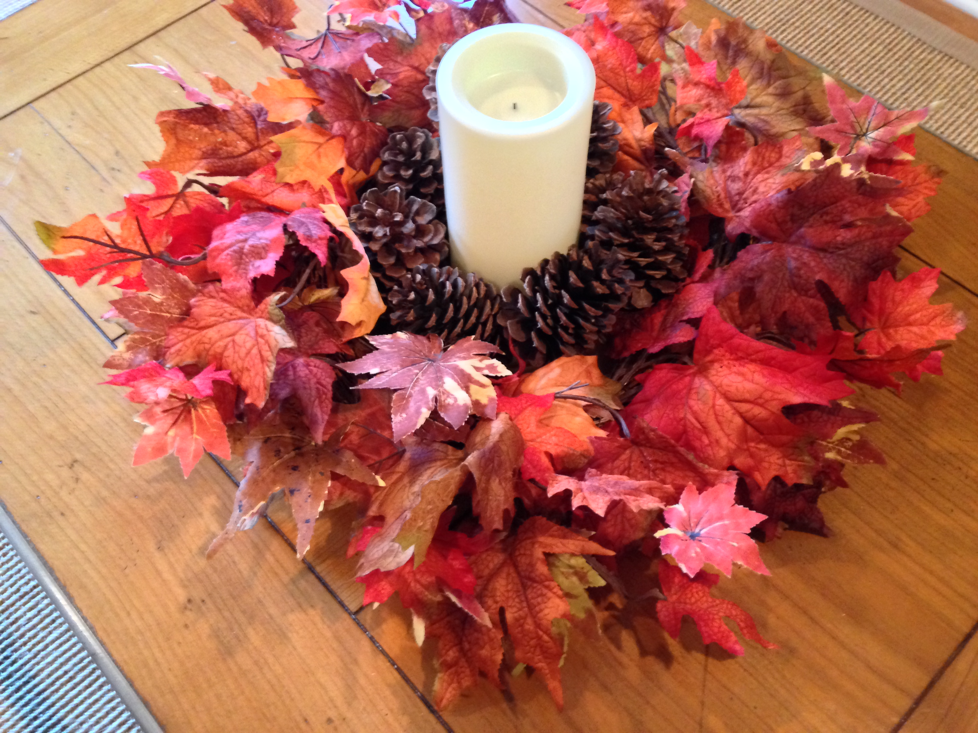 Housewife ing adventures in mastering everyday tasks gift from my husband that i mentioned in my post about outdoor fall decorations with that same candle and the same pinecone vase filler in the middle reviewsmspy